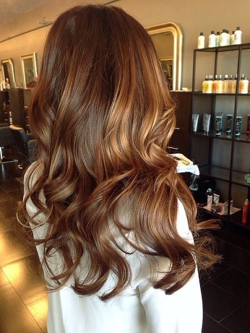 Medium Brown Hair with Golden Highlights