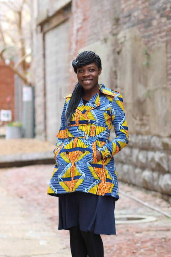 DESCRIPTION: Quistt Blazey Jacket, African Ankara Spring Jacket  LENGTH: 26  Side Pockets  Jackets are made to order therefore allow 3 weeks for