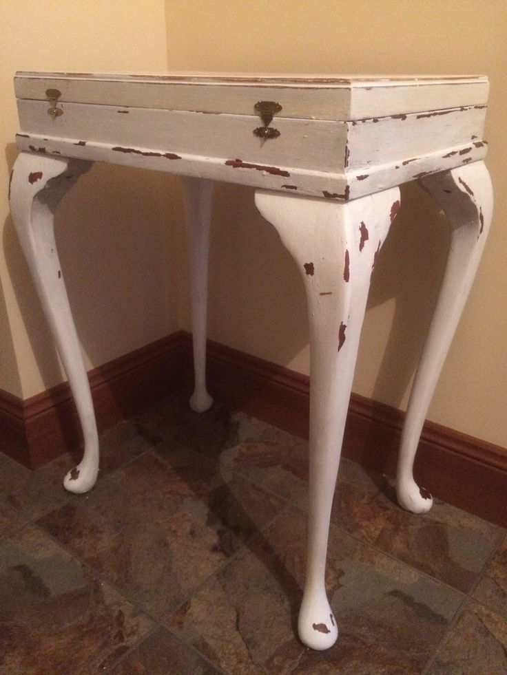 50 year old cutlery silverware cabinet/table given a shabby chic makeover