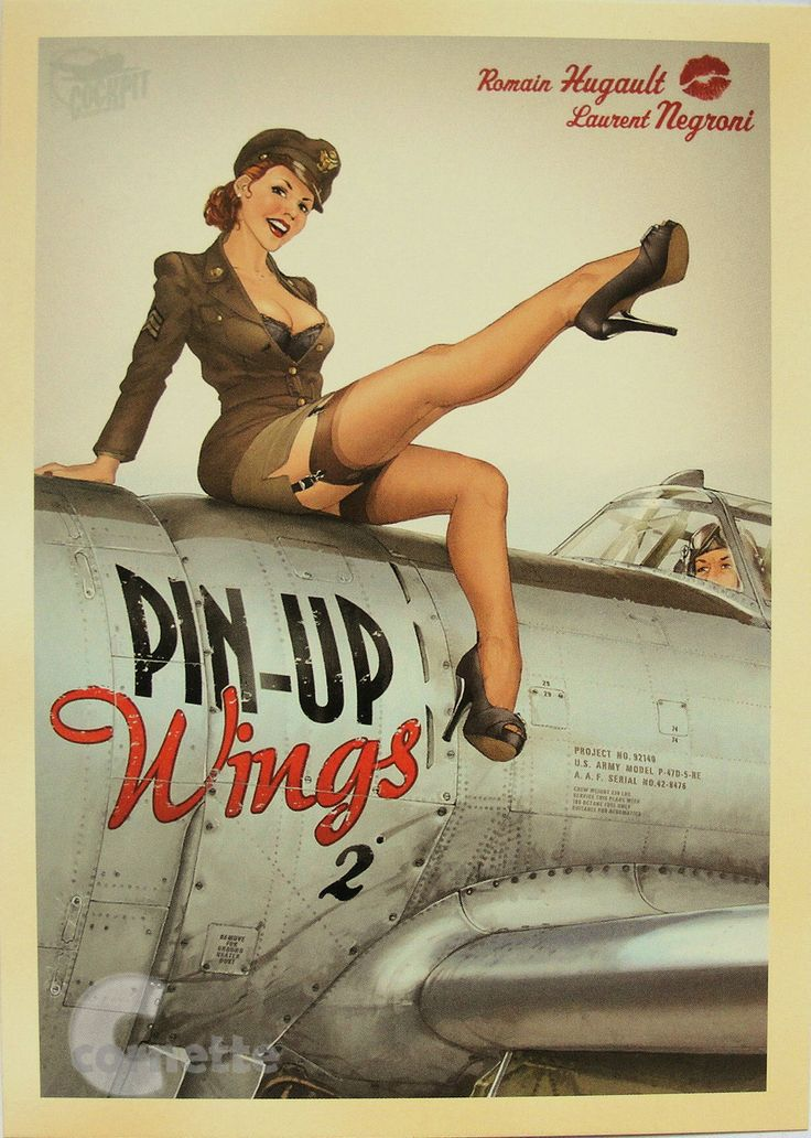 World War II Postcard: Pin-up Girl Nurse Soldier US Army - love pin-up stuff