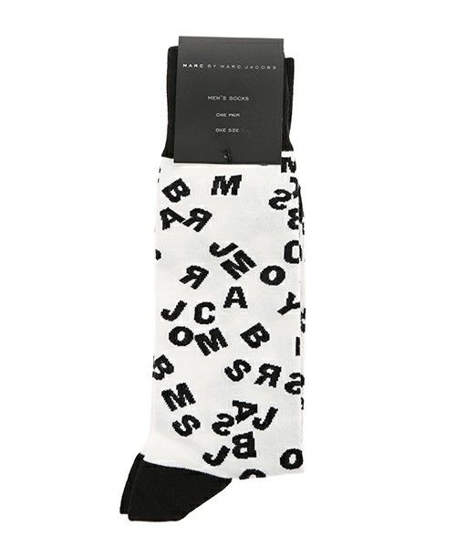 MARC BY MARC JACOBS(マークバイマークジェイコブス)のJUMBLE LOGO SOCKS(ソックス/靴下) ホワイト