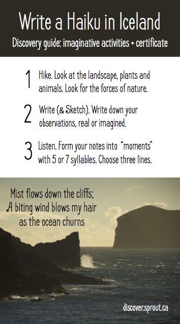 Write a Haiku while you travel in Iceland