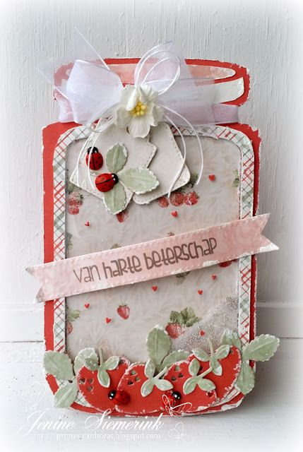 Jenine's Card Ideas: Noor! Design DT - Strawberry Cookie Jar