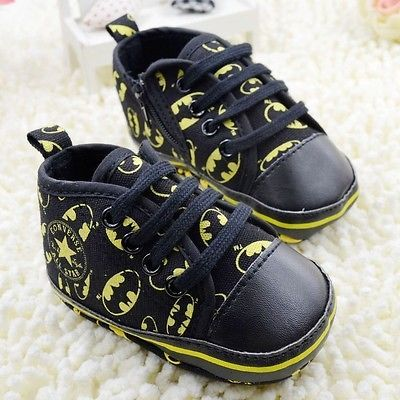 Baby Boy Batman Converse Infant Sneaker Crib Shoe 3-6,6-9,9-12 Months Size 2 3 4