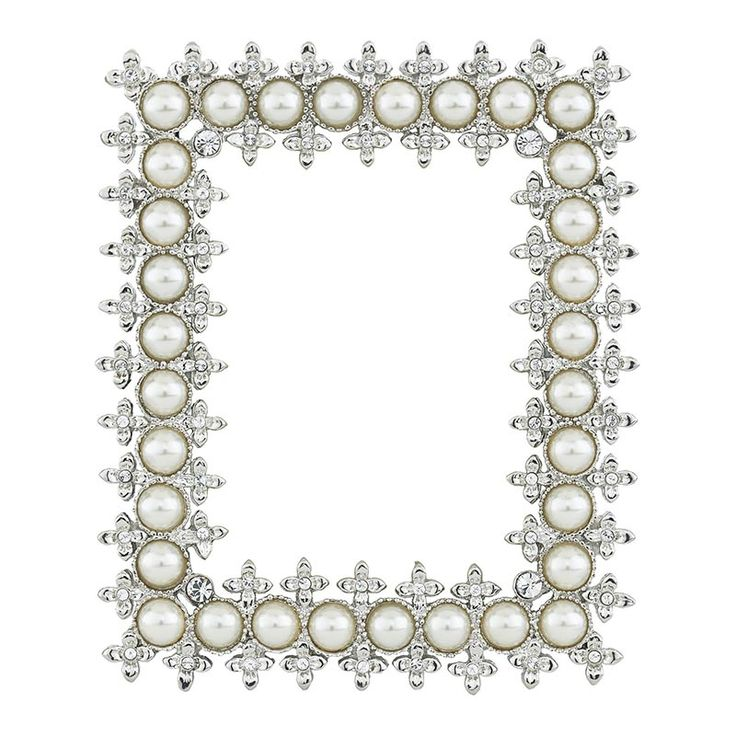 Olivia Riegel Crystal U0026 Pearl 2.5 X 3.5 In. Picture Frame