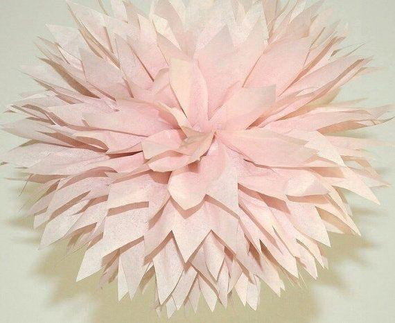 Blush Pom Poms Blush Bridal Shower Decorations Rose by PomVillage