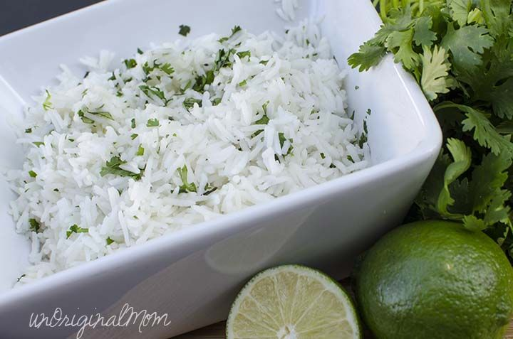 Use Success Rice Basmati Boil-in-a-Bag rice to make super quick and easy Cilantro Lime Rice! #SuccessRice