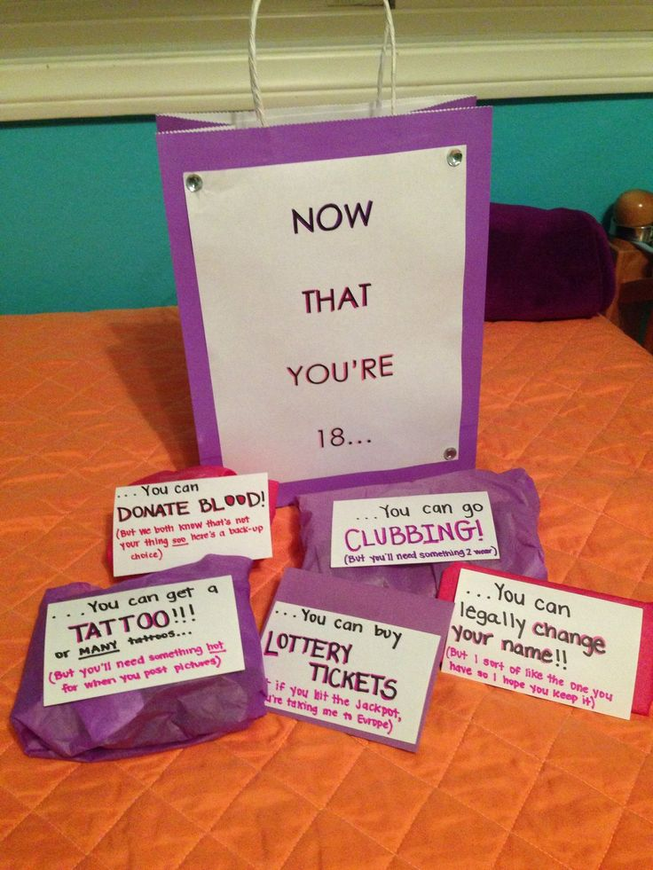 18th birthday present ideas 18th birthday party birthday gifts funny ...