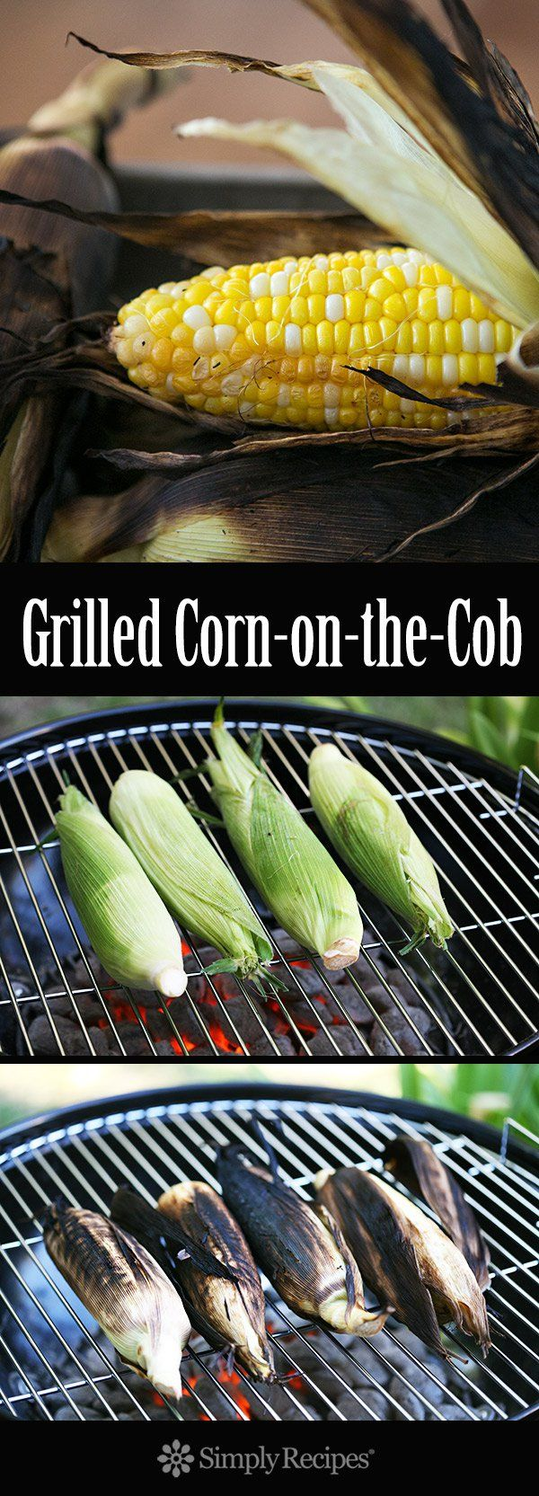 How to grill juicy, tender, grilled corn-on-the-cob, it's EASY! No soaking required. Infuse the corn with the flavor of the smoky grill without drying out the corn. On SimplyRecipes.com