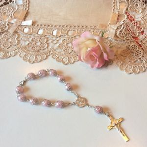 Set of 12 Bracelet Rosary Wedding Quinceanera Bridesmaids Party Favors Rosaries | eBay