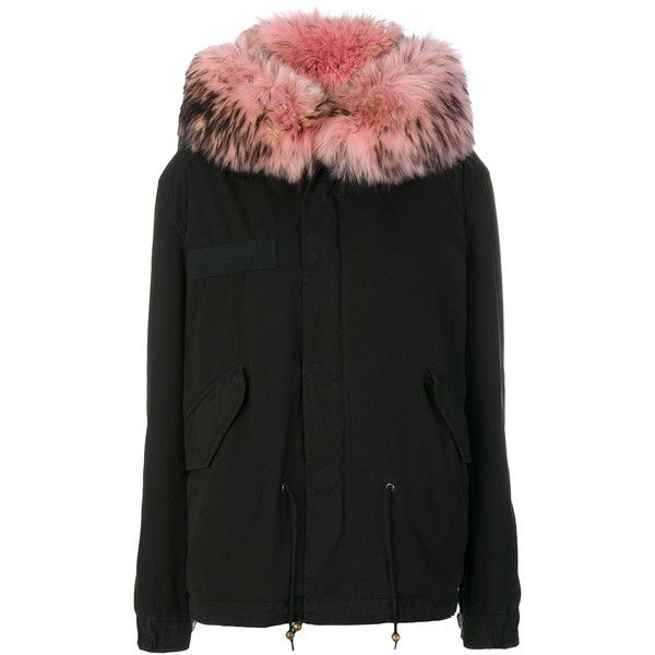 Mr & Mrs Italy racoon fur hooded jacket (7.290 BRL) ❤ liked on Polyvore featuring outerwear, jackets, black, fur jacket, parka jacket, utility jacket, fur parka jacket and army parka jacket