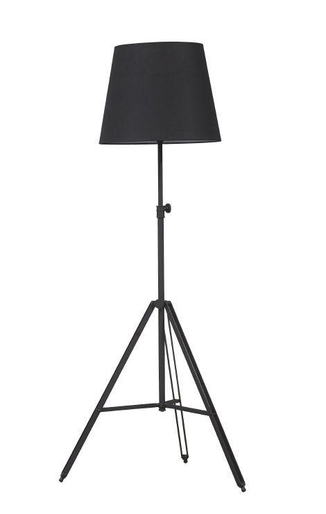 Staande lamp Triad met zwarte voet. Kap is verkrijgbaar in meerdere kleuren. Tegen meerprijs is de voet ook in chroom leverbaar! € 190,-