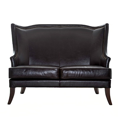 "Eaton Two Seater Sofa     Description  Chair height 18""     was $1369.99 now $684.99   SKU 115203   30 inches wide x 49 inches long x 39 inches high"