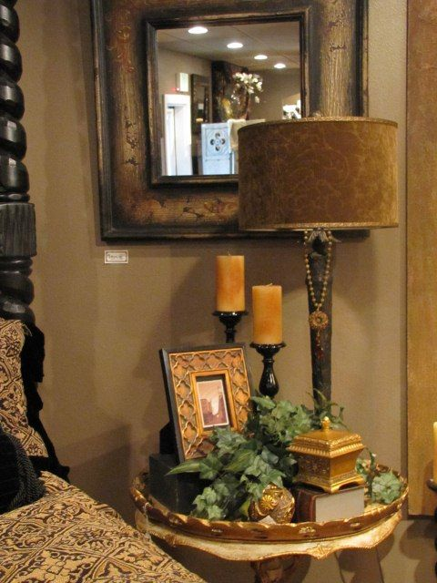 Infusion Interior Design Lakewood, WA. Love the Tuscan feel. Bedroom decorating ideas.                                                                                                                                                      More