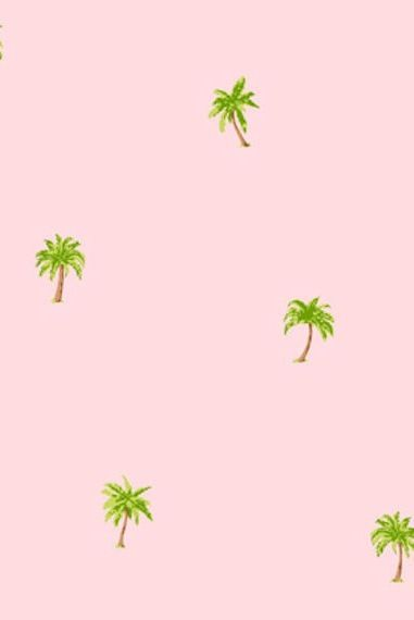 happy little palm trees pattern / wallpaper / background / design / art