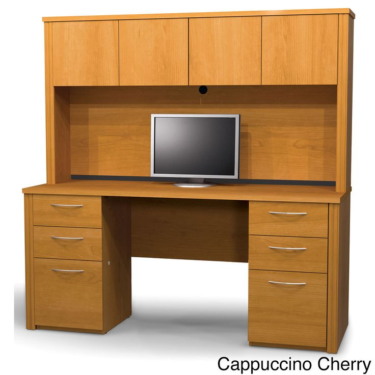 Bestar Embassy Credenza and Hutch Kit
