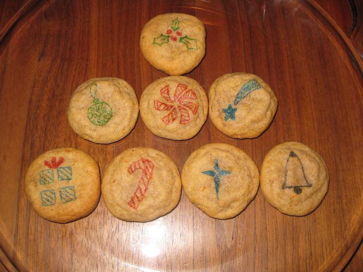 Orange Spice Cookies with Custom Christmas Designs (all hand drawn)