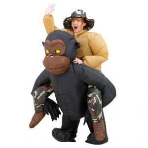 Ce costume de singe gonflable sera parfait pour faire rire vos amis lors de votre soirée déguisée!