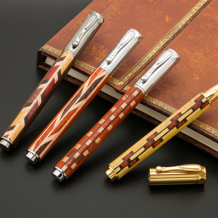 Segmented Wood Pen Blanks --- http://www.woodturnerscatalog.com/p/2/-/6/10/-/5891/Pen-Makers-Choice-Segmented-Wood-Pen-Blank Pen Maker's Choice™ Segmented Wood Pen Blanks feature hand-fitted, precision cut exotic woods, which create a striking pattern that will compliment any pen or project kit.