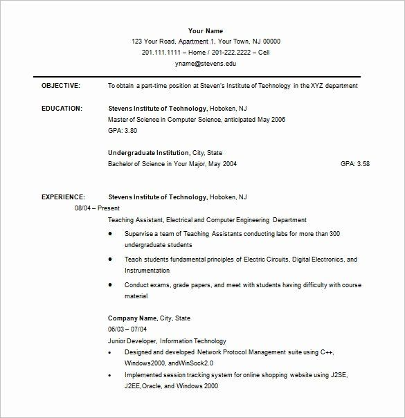 Resume For College Freshmen Awesome Resume Templates Undergraduate Resume Templates In 2020 Student Resume College Resume College Resume Template