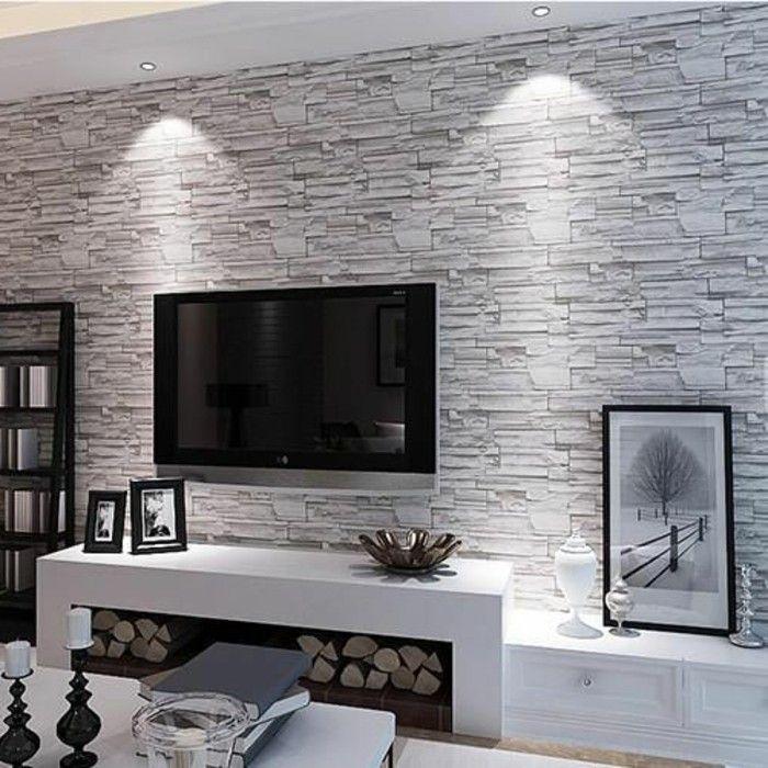 Wandgestaltung Wohnzimmer Tapete Tapeten Ideen Fur Eine