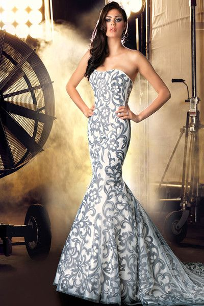 What a unique #wedding #dress! {Impression Bridal}