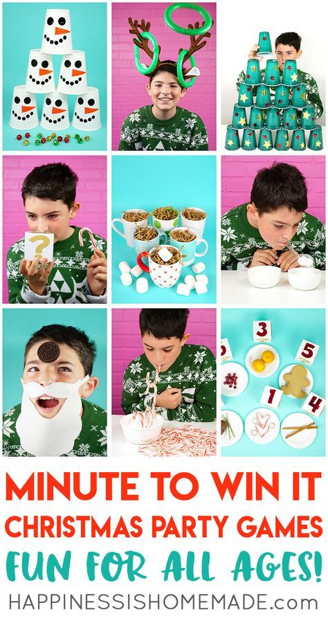 Host the best Christmas party ever with these fun Christmas Minute