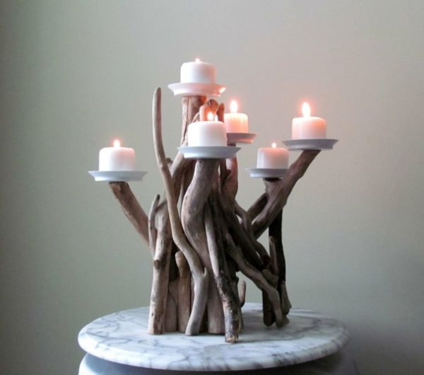 lampe-bois-flotté-maison-du-monde-objet-deco-bois-guirlande-bois-flotté-bougies