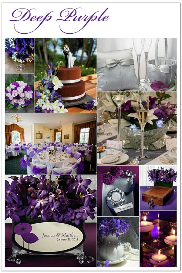 The perfect Deep Purple wedding color scheme