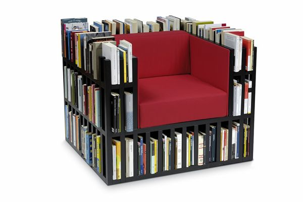 Design chairs for book lovers #design #deco #book