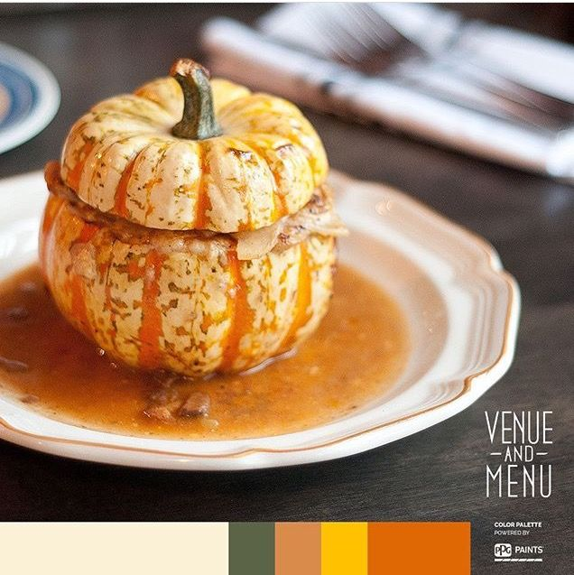 As gorgeous as it is delicious, this lamb stuffed pumpkin is a seasonal dish created by chef Justin at his Zélé restaurant.  #youngandtalentedchef #Zélé #venueandmenu
