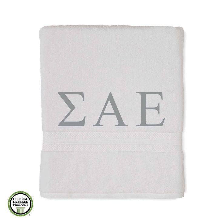 Martex Abundance Sigma Alpha Epsilon Monogram Bath Towel