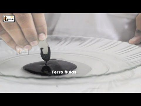 Making Magnetic FerroFluid   How To Make Ferrofluid at home   Science Experiment for kids   elearnin - YouTube