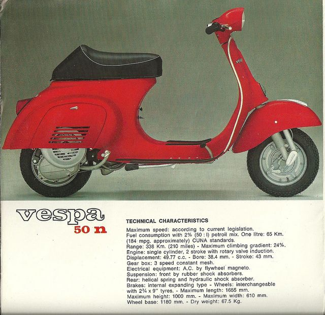 VESPA 50n AD by hedyelyakim, via Flickr