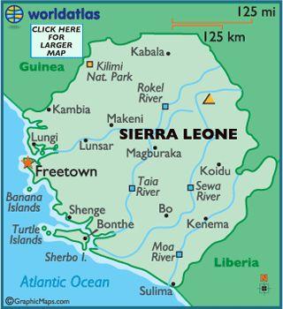Sierra Leone Map / Geography of Sierra Leone / Map of Sierra Leone ...