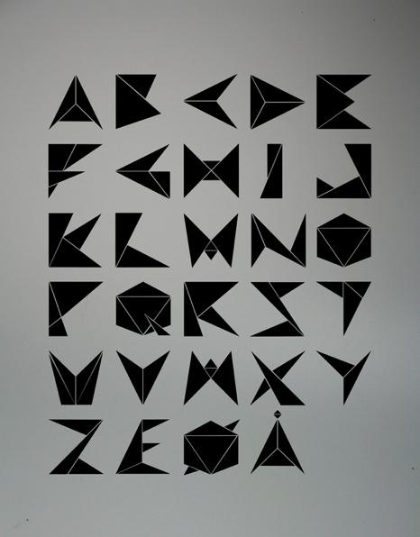 diamond font alphabet