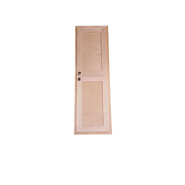 WG Products Unfinished 42-inch Recessed Craftsman Storage Cabinet, Brown