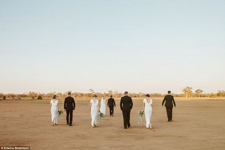 The wedding was held at Blackall in western Queensland - an area that has been plagued by ...