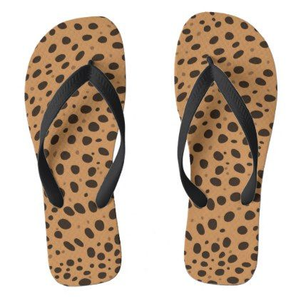 Khaki-Braune Gepard Flecken Flip Flops | Zazzle.com Georgia Delaney