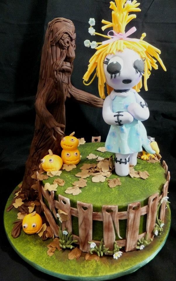 Scarecrow cake. I won 3rd place in the novelty section. Perth royal show 2012.