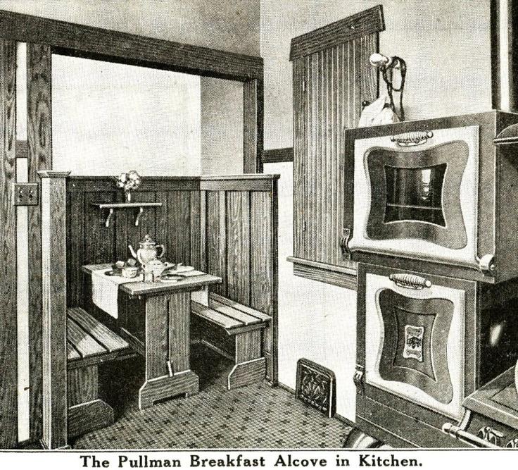 Best Builtin Banquette Breakfast Nooks Images On Pinterest - Craftsman bungalow kitchen breakfast nooks