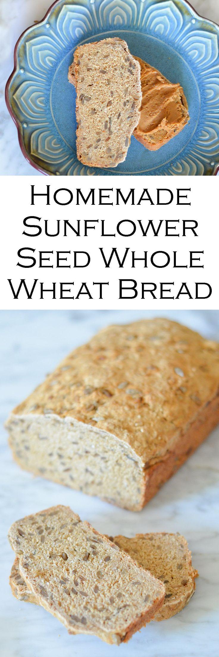 Homemade Sunflower Seed Whole Wheat Bread