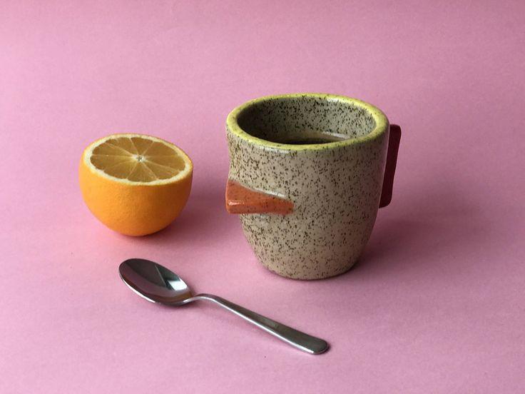 I am so excited to share the latest addition to my shop:  Espresso cup, Ceramic small Mug, One of a Kind Piece #mug #ceramicmug #uniquemug