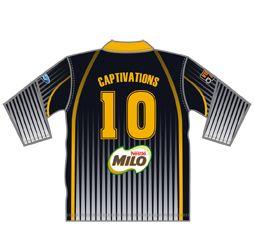 Custom Unisex ¾ Sleeve Polo Shirts | Corporate Team Uniforms | Captivations Sportswear | Custom sportswear and apparel supplier