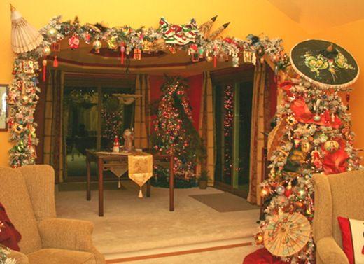 Asian Christmas tree and Asian garland