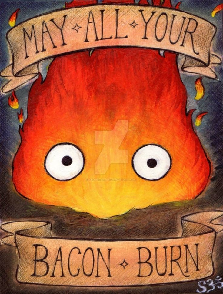 CALCIFER: May All Your Bacon Burn by SianBrierley on DeviantArt