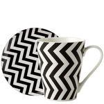 Set de mug y plato El Corte Inglés Ziz Zag - Vajillas, cristalerías y cubiertos - Mugs - El Corte Inglés - Hogar
