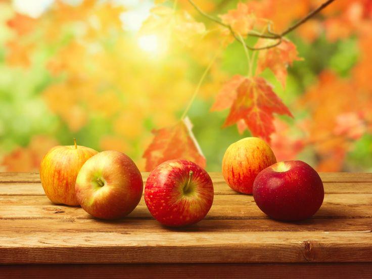 еда, фрукты, яблоки, размытый фон 1600x1200