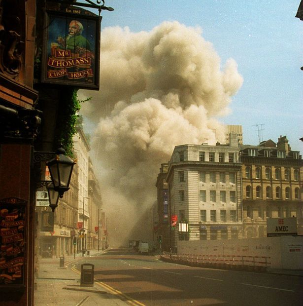 The moment the bomb exploded in Manchester city centre
