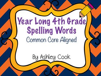 This is a year long spelling program for a traditional calendar.There are 36 weeks of 23 word spelling lists. 18 words and 5 bonus words. All words follow the Common Core Scope and Sequence for 4th grade. These follow spelling patterns, high frequency words and content words.